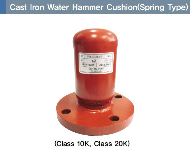 Cast iron water Hammer Cushion (Spring type)
