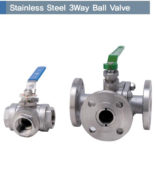 Stainless Steel 3Way Ball Valve