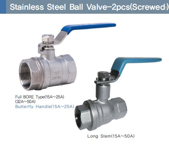 Stainless Steel Ball Valve-2pcs (Screwed)